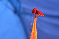BOGOTÁ -COLOMBIA. 15-06-2014. Una bandera de Colombia con una paloma en señal de la paz durante el discurso de Juan Manuel Santos candidato por el partido de La Unidad Nacional ganador de las eleccciones presidenciales para el período constitucional 2014-18 en Colombia. Santos vencio a Oscar Ivan Zuluaga del partido Centro Democratico. La segunda vuelta de la elección de Presidente y vicepresidente de Colombia se cumplió hoy 15 de junio de 2014 en todo el país./ A colombia flag with a dove in peace sign during the speech of Juan Manuel Santos candidate by National Unity party winner of the Presidential elections for the constitutional period 2014-15 in Colombia. Santos defeated to Oscar Ivan Zuluaga by Democratic Center party. The second round of the election of President and vice President of Colombia that took place today June 15, 2014 across the country. Photo: VizzorImage/ Gabriel Aponte / Staff