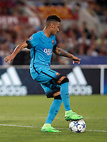 Calcio, Champions League, Gruppo E: Roma vs Barcellona. Roma, stadio Olimpico, 16 settembre 2015.<br /> FC Barcelona's Neymar in action during a Champions League, Group E football match between Roma and FC Barcelona, at Rome's Olympic stadium, 16 September 2015.<br /> UPDATE IMAGES PRESS/Isabella Bonotto<br /> <br /> *** ITALY AND GERMANY OUT ***