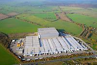 Logistik Halle Zarrentin 09.11.2014: Logistik Halle Zarrentin auf der gruenen Wiese