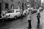 Ripon Sword Dance Play Yorkshire 1971 1970s UK <br /> <br /> My ref 5/318/, 1972 processed in 1972, taken in 1971