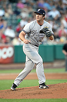 Adam Warren #28 of the Scranton/Wilkes-Barre Yankees plays for the International League All-Stars in the annual Triple-A All-Star Game against the Pacific Coast League All-Stars at Spring Mobile Ballpark on July 13, 2011  in Salt Lake City, Utah. The International League won the game, 3-0. Bill Mitchell/Four Seam Images.