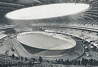 The 70;000-Seat main stadium for the Olympics is one of the most complex and costly structures ever built. Its final cost may top $700 million. Baffling design; disorganized management and labor troubles combined to bog down the project for long periods. It'll be ready; minus some planned features; for the Games opening July 17.<br /> <br /> 1976<br /> <br /> PHOTO :  Dick Darrell - Toronto Star Archives - AQP