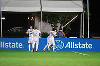 LAKE BUENA VISTA, FL - JULY 27: LAFC celebrates a goal during a game between Seattle Sounders FC and Los Angeles FC at ESPN Wide World of Sports on July 27, 2020 in Lake Buena Vista, Florida.