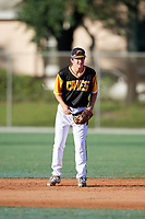 Jake Gelof during the WWBA World Championship at the Roger Dean Complex on October 20, 2018 in Jupiter, Florida.  Jake Gelof is a shortstop from Rehoboth Beach, Delaware who attends IMG Academy and is committed to William & Mary.  (Mike Janes/Four Seam Images)
