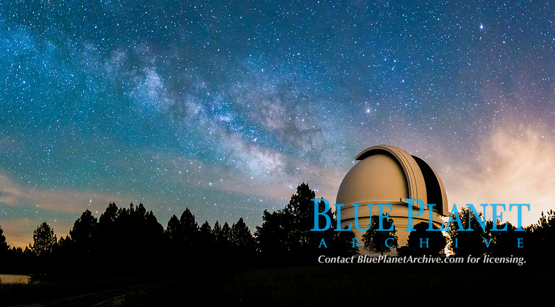 Palomar Observatory at Night under the Milky Way, Panoramic photograph