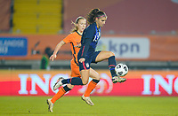 BREDA, NETHERLANDS - NOVEMBER 27: Alex Morgan #13 of the United States moves forward with the ball during a game between Netherlands and USWNT at Rat Verlegh Stadion on November 27, 2020 in Breda, Netherlands.