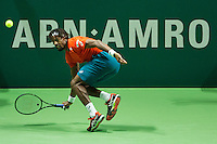 Rotterdam, The Netherlands, February 12, 2016,  ABNAMROWTT, Gael Monfils (FRA)<br /> Photo: Tennisimages/Henk Koster
