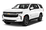 2021 Chevrolet Tahoe LT 5 Door SUV Angular Front automotive stock photos of front three quarter view