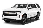 2021 Chevrolet Tahoe LT 5 Door SUV Angular Front automotive stock photos of front three quarter view