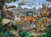 Interlitho, Lorenzo, FANTASY, paintings, dinosaur, KL, KL4336,#fantasy# illustrations, pinturas