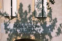 Europe/France/Languedoc-Roussillon/30/Gard/Uzès: Boulangerie Uzétienne, 9 place aux Herbes, détail enseigne