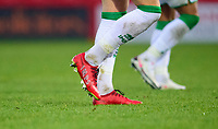 Lincoln City's Lewis Montsma beaded boots<br /> <br /> Photographer Andrew Vaughan/CameraSport<br /> <br /> The EFL Sky Bet League One - Accrington Stanley v Lincoln City - Saturday 21st November 2020 - Crown Ground - Accrington<br /> <br /> World Copyright © 2020 CameraSport. All rights reserved. 43 Linden Ave. Countesthorpe. Leicester. England. LE8 5PG - Tel: +44 (0) 116 277 4147 - admin@camerasport.com - www.camerasport.com