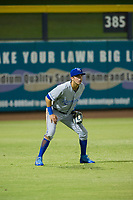 AZL Royals left fielder Andres Martin (49) on defense against the AZL Mariners on July 29, 2017 at Peoria Stadium in Peoria, Arizona. AZL Royals defeated the AZL Mariners 11-4. (Zachary Lucy/Four Seam Images)
