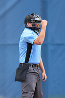 Umpire Andrew Craddock calls a strike during a Tampa Bay Rays Extended Spring Training intrasquad game on June 15, 2021 at Charlotte Sports Park in Port Charlotte, Florida.  (Mike Janes/Four Seam Images)