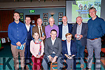 Working hard at the Annual Race night at the Na Gaeil GAA clubhouse, Tralee last Saturday were seated l-r: Ann Marie Lucey, Tim Lynch and Mary Maunsell. Back l-r: Terry McEnerney, Morgan Sheehy, Donal Lucey, Joe Clifford, John Keating, Pat O'Connor and Denis Sugrue.
