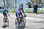 The lead group including Cecilie Uttrup Ludwig (DEN) FDJ Nouvelle-Aquitaine Futuroscope, Ashleigh Moolman-Pasio (RSA) Team SD Worx and Lucinda Brand (NED) Trek-Segafredo during Liege-Bastogne-Liege Femmes 2021, running 141km from Bastogne to Liege, Belgium. 25th April 2021.  <br /> Picture: A.S.O./Gautier Demouveaux | Cyclefile<br /> <br /> All photos usage must carry mandatory copyright credit (© Cyclefile | A.S.O./Gautier Demouveaux)