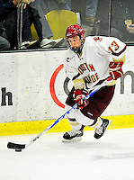 12 November 2010: Boston College Eagle forward Cam Atkinson, a Junior from Greenwich, CT, in action against the University of Vermont Catamounts at Gutterson Fieldhouse in Burlington, Vermont. The Eagles edged out the Cats 3-2 in the first game of their weekend series. Mandatory Credit: Ed Wolfstein Photo