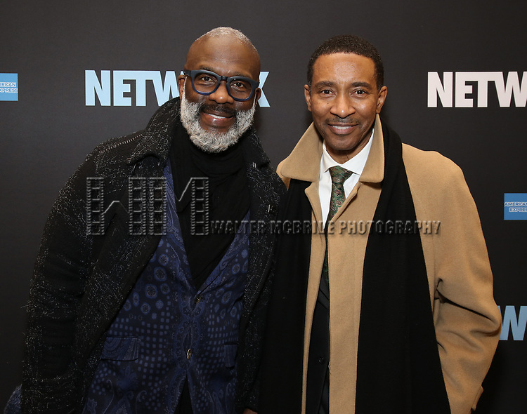 """Bebe Winans and Charles Randolph-Wright attends the Broadway Opening Night Performance  for """"Network"""" at the Belasco Theatre on December 6, 2018 in New York City."""