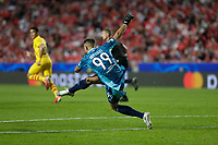 29th September 2021: Estadio da Luz, Lisbon, Portugal;  UEFA Champions league group E,  S.L.Benfica versus Barcelona; Odisseas Vlachodim goalkeeper of SL Benfica clears long upfield