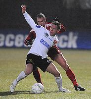 KSV Roeselare - KV Kortrijk..duel tussen Jimmy Hempte (achter) en Anthony Van Loo (voor)..foto VDB / BART VANDENBROUCKE
