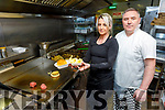 Cindy and Ger O'Shea preparing their take-a-ways in New Yorkers on Bridge Street, Tralee