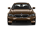 Car photography straight front view of a 2019 BMW 3-Series  Sport 4 Door Sedan