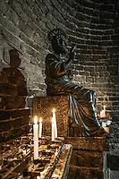 St Peter statue in St Peters medieval church, Porto Venere, Italy