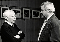 1988 File Photo - Jean Duceppe (L) and Michel Dumont (R)  at Place-des-Arts