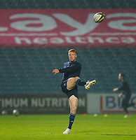 16th November 2020; RDS Arena, Dublin, Leinster, Ireland; Guinness Pro 14 Rugby, Leinster versus Edinburgh; Ciarán Frawley of Leinster warms up prior to kickoff