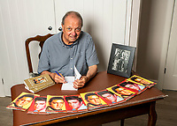 BNPS.co.uk (01202 558833)<br /> Pic: MaxWillcock/BNPS<br /> <br /> Pictured: Todd Slaughter at his desk.<br /> <br /> One of the world's most renowned Elvis Presley fan clubs is expected to sell for a staggering £100,000.<br /> <br /> The Official Elvis Presley Fan Club of Great Britain was established in London in 1957 and has a membership of almost 5,000 people over 60 years on.<br /> <br /> The current president, Todd Slaughter, bought it in 1967 after working as a journalist on music magazines.