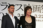March 18, 2010 - Tokyo, Japan - French film director Benoit Petre (L) and  English actress, director and singer Jane Birkin (R) attend the French Film Festival 2010 press conference at Roppongi Hills on March 18, 2010 in Tokyo, Japan. (Laurent Benchana/Nippon News).