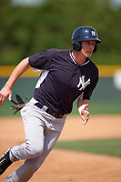New York Yankees Zack Zehner (64) during a minor league Spring Training game against the Pittsburgh Pirates on March 26, 2016 at Pirate City in Bradenton, Florida.  (Mike Janes/Four Seam Images)