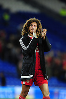 Ethan Ampadu of Wales applauds the fans at the final whistle during the UEFA Nations League B match between Wales and Ireland at Cardiff City Stadium in Cardiff, Wales, UK.September 6, 2018