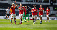 18th July 2021; Pride Park, Derby, East Midlands; Pre Season Friendly Football, Derby County versus Manchester United; Manchester united players salute the fans after the game