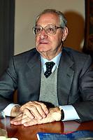 Roma 8/4/2004 Campidoglio - sala della Protomoteca. <br /> Liberta dietro le sbarre - presentazione del libro.<br /> Cesare Romiti, direttore RCS <br /> Foto Andrea Staccioli Insidefoto