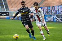 inter-genoa - milano 28 febbraio 2021 - 24° giornata Campionato Serie A - nella foto: gagliardini e shomurodov