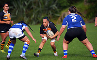 Action from the Auckland women's 10s rugby match between Eden and University at Gribblehirst Park in Auckland, New Zealand on Saturday, 19 June 2021. Photo: Dave Lintott / lintottphoto.co.nz