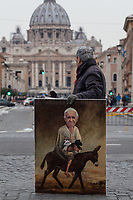 28.02.2018 - Artist Kaya Mar Delivers His Painting Of Pope Francis To Vatican City