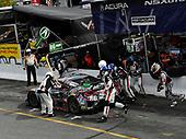 #86 Michael Shank Racing with Curb-Agajanian Acura NSX, GTD: Katherine Legge, Alvaro Parente pit stop.