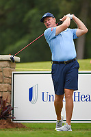 April 29th 2021, The Woodlands, Texas USA;  Ernie Els watches his tee shot on 1 during the preview of the 2021 Insperity Invitational at The Woodlands Country Club on April 29, 2021 in The Woodlands, Texas.