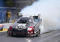 Apr 10, 2015; Las Vegas, NV, USA; NHRA funny car driver Tim Wilkerson during qualifying for the Summitracing.com Nationals at The Strip at Las Vegas Motor Speedway. Mandatory Credit: Mark J. Rebilas-