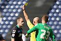 David Gray of Stevenage is booked by referee Roger East<br />  - Preston North End v Stevenage - Sky Bet League One - Deepdale, Preston - 14th September 2013. <br /> © Kevin Coleman 2013