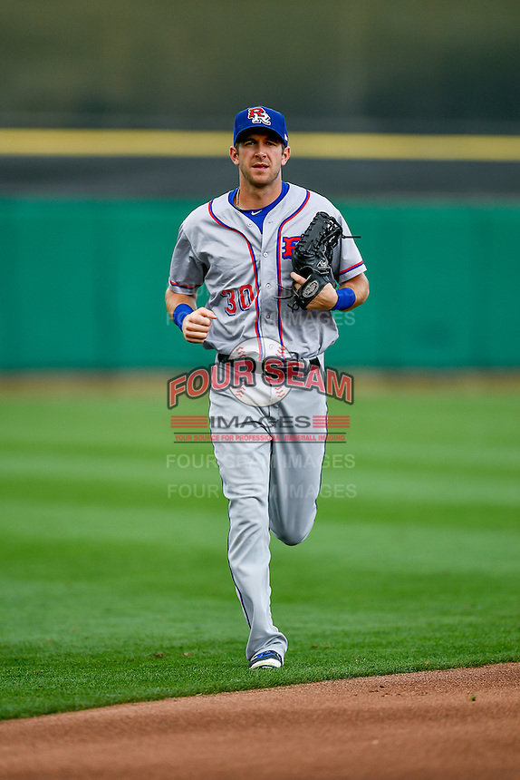 Jared Hoying (30) of the Round Rock Express during the game against the Salt Lake Bees in Pacific Coast League action at Smith's Ballpark on August 15, 2016 in Salt Lake City, Utah. Round Rock defeated Salt Lake 5-4.  (Stephen Smith/Four Seam Images)