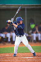 Villanova Wildcats third baseman Juan De La Espriella (16) at bat during a game against the Ball State Cardinals on March 3, 2017 at North Charlotte Regional Park in Port Charlotte, Florida.  Ball State defeated Villanova 3-1.  (Mike Janes/Four Seam Images)
