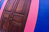 Traditional colors of Bonaire in the capital city of Kralendijk, Bonaire, Netherland Antilles, Caribbean Sea, Atlantic Ocean