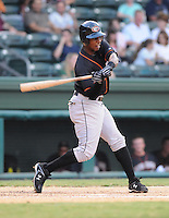 July 25, 2009: Infielder Jerome L.J. Hoes (2) of the Delmarva Shorebirds, Class A affiliate of the Baltimore Orioles, in a game at Fluor Field at the West End in Greenville, S.C. Photo by: Tom Priddy/Four Seam Images