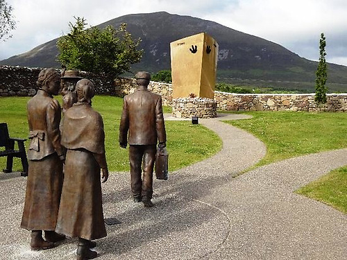 Lahardane village memorial of local people going to board Titanic