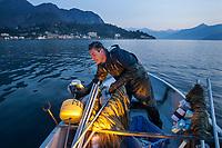 pesca professionale sul lago di Como