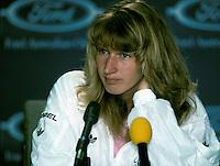 1989, Australian Open, Steffie Graf at press conference