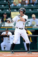Bradenton Marauders outfielder Dan Grovatt #14 during a game against the Fort Myers Miracle at McKechnie Field on April 7, 2013 in Bradenton, Florida.  Fort Myers defeated Bradenton 9-8 in ten innings.  (Mike Janes/Four Seam Images)